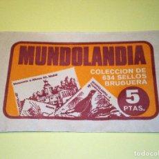 Coleccionismo Cromos antiguos: MUNDOLANDIA - SOBRE CROMOS ED. BRUGUERA - NUEVO SIN ABRIR - AÑO 1975. Lote 95941771