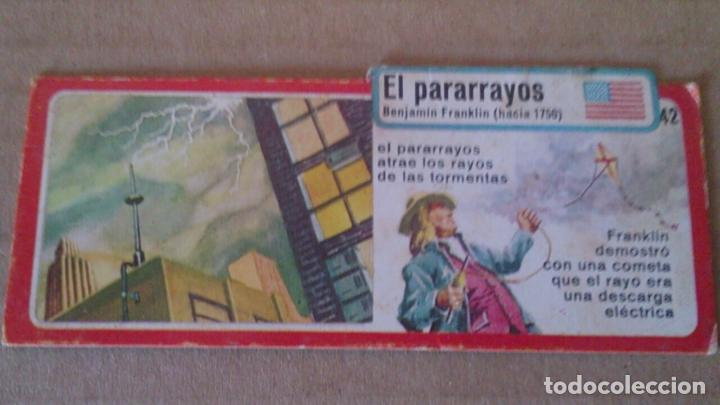 BIMBO COLECCION INVENTOS CROMO -FICHA N 42 EL PARARRAYOS