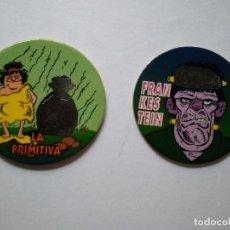 Coleccionismo Cromos antiguos: TAZOS BIMBOCAO BIMBO CAPS TELECAPS SERIE TINTA TERMICA. Lote 96793563