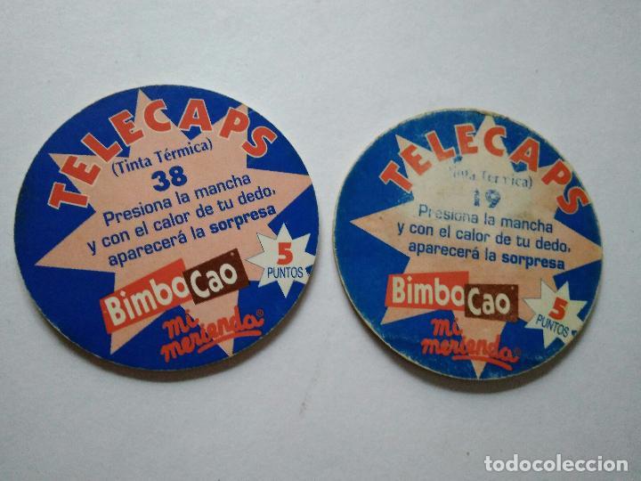 Coleccionismo Cromos antiguos: TAZOS BIMBOCAO BIMBO CAPS TELECAPS SERIE TINTA TERMICA - Foto 2 - 96793563