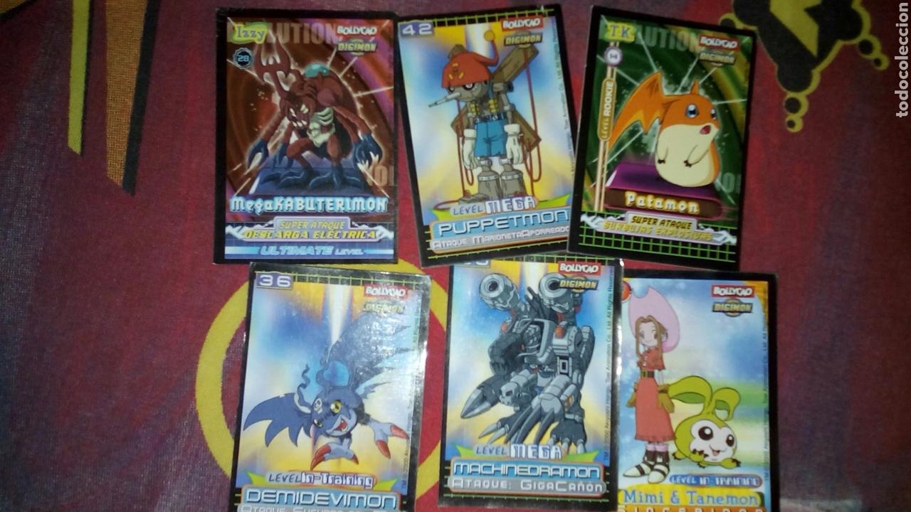 LOTE 6 CARDS DIGIMON BOLLYCAO (Coleccionismo - Cromos y Álbumes - Cromos Antiguos)