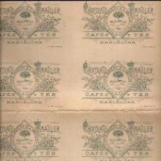 Coleccionismo Cromos antiguos: EL QUIJOTE.CHOCOLATES AMATLLER.SERIE D.NOS 91-120.HOJA ENTERA SIN CORTAR. Lote 97898007