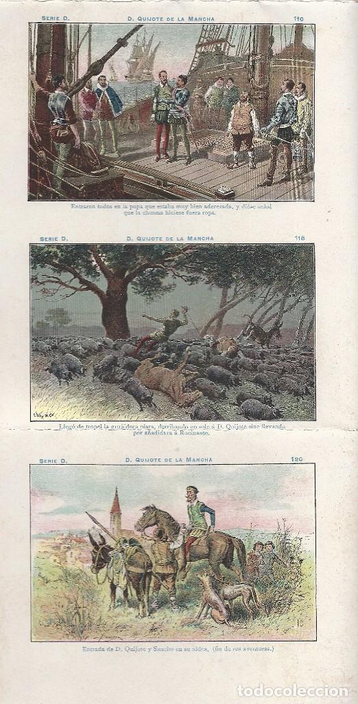 Coleccionismo Cromos antiguos: AE2.EL QUIJOTE.CHOCOLATES AMATLLER.SERIE D.Nos 91-120.HOJA ENTERA SIN CORTAR - Foto 2 - 97898007