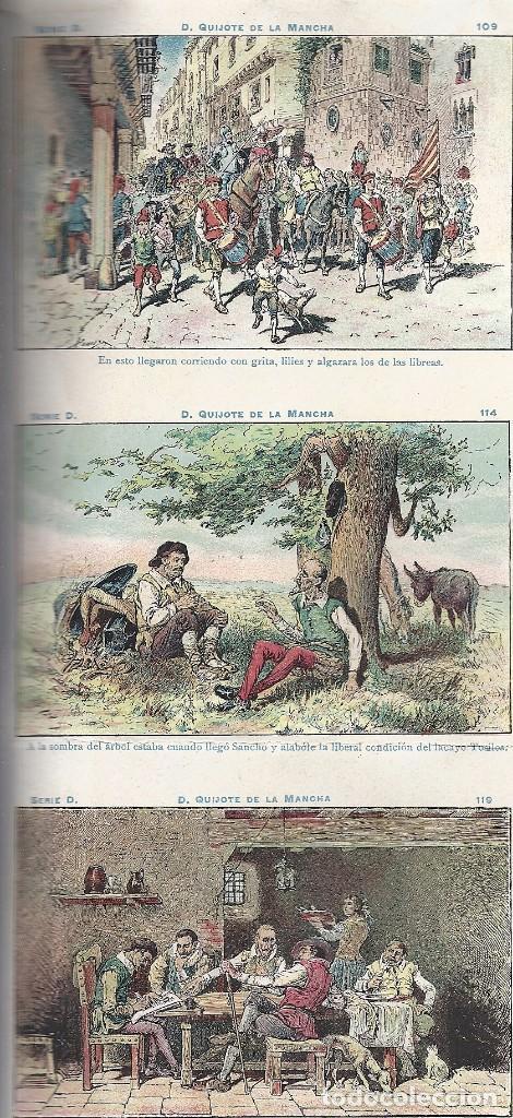 Coleccionismo Cromos antiguos: AE2.EL QUIJOTE.CHOCOLATES AMATLLER.SERIE D.Nos 91-120.HOJA ENTERA SIN CORTAR - Foto 3 - 97898007