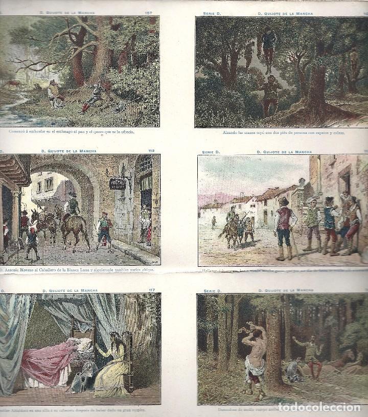 Coleccionismo Cromos antiguos: AE2.EL QUIJOTE.CHOCOLATES AMATLLER.SERIE D.Nos 91-120.HOJA ENTERA SIN CORTAR - Foto 6 - 97898007