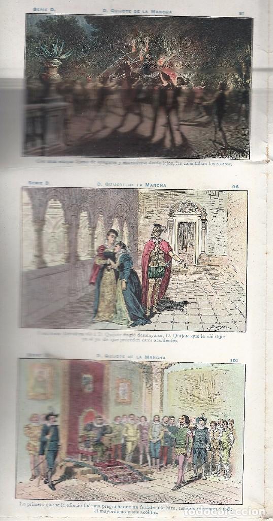 Coleccionismo Cromos antiguos: AE2.EL QUIJOTE.CHOCOLATES AMATLLER.SERIE D.Nos 91-120.HOJA ENTERA SIN CORTAR - Foto 8 - 97898007