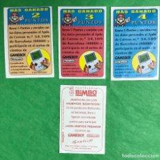 Coleccionismo Cromos antiguos: LOTE DE 3 CROMOS BIMBO - SUPER MARIO - GAMEBOY - NINTENDO. Lote 98441851