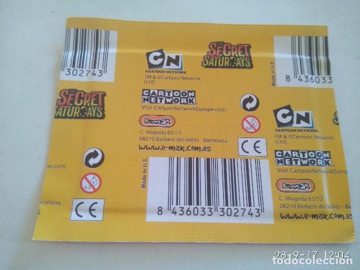 Coleccionismo Cromos antiguos: Caja con 36 sobres de cromos Secret Saturdays . De Emax 2010 - Foto 3 - 99051319