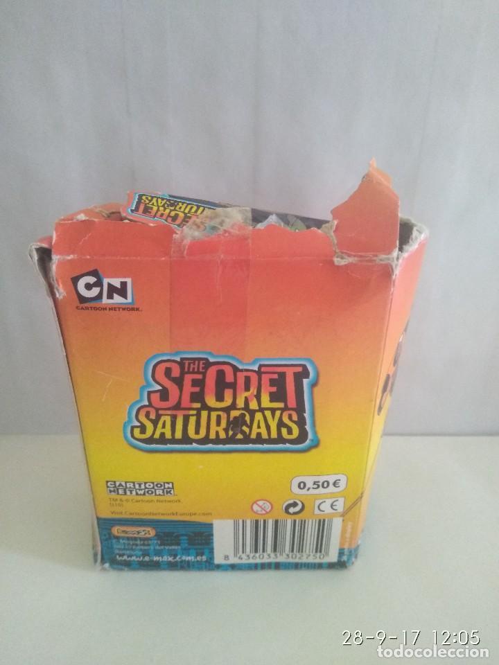 Coleccionismo Cromos antiguos: Caja con 36 sobres de cromos Secret Saturdays . De Emax 2010 - Foto 5 - 99051319