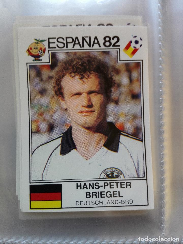 Nº 146 HANS-PETER BRIEGEL ALEMANIA (ESPAÑA 82) **WORLD CUP STORY** PANINI NUEVO NUNCA PEGADO (Coleccionismo - Cromos y Álbumes - Cromos Antiguos)