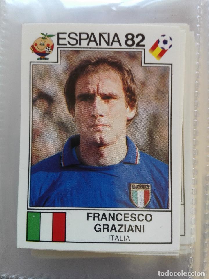 Nº 142 FRANCESCO GRAZIANI ITALIA (ESPAÑA 82) **WORLD CUP STORY** PANINI NUEVO NUNCA PEGADO (Coleccionismo - Cromos y Álbumes - Cromos Antiguos)