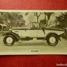 Coleccionismo Cromos antiguos: FOTOGRAFIA - MOTOR CARS - Nº 4 - ROVER - W.D. & H.O. WILS BRISTOL & LONDON. Lote 99136851