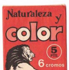 Coleccionismo Cromos antiguos: SOBRE CROMOS ANTIGUO SIN ABRIR NATURALEZA Y COLOR. Lote 99506267