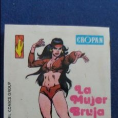 Coleccionismo Cromos antiguos: CROPAN CROMO PLASTICO ALBUM SUPER HEROES MARVEL NUMERO 27 LA MUJER BRUJA . Lote 100220715
