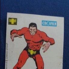 Coleccionismo Cromos antiguos: CROPAN CROMO PLASTICO ALBUM SUPER HEROES MARVEL NUMERO 23 UNUS EL INTOCABLE . Lote 100221003