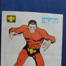 Coleccionismo Cromos antiguos: CROPAN CROMO PLASTICO ALBUM SUPER HEROES MARVEL NUMERO 23 UNUS EL INTOCABLE . Lote 100221627