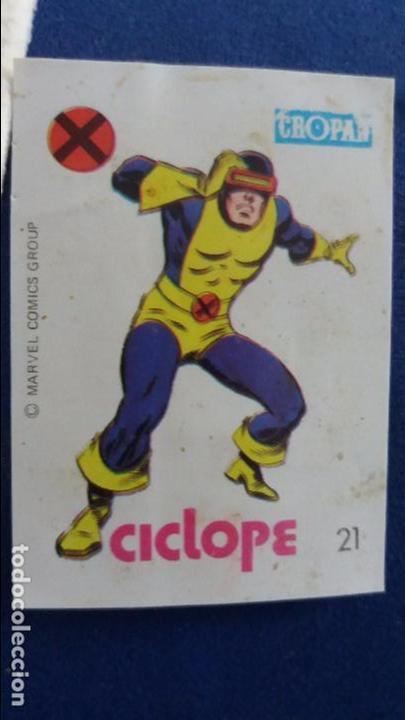 CROPAN CROMO PLASTICO ALBUM SUPER HEROES MARVEL NUMERO 21 CICLOPE (Coleccionismo - Cromos y Álbumes - Cromos Antiguos)