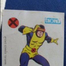 Coleccionismo Cromos antiguos: CROPAN CROMO PLASTICO ALBUM SUPER HEROES MARVEL NUMERO 21 CICLOPE. Lote 100222623