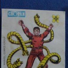 Coleccionismo Cromos antiguos: CROPAN CROMO PLASTICO ALBUM SUPER HEROES MARVEL NUMERO 5 DOCTOR OCTOPUS. Lote 100223039