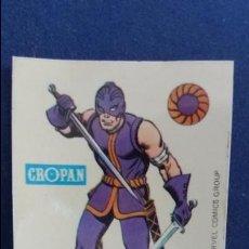 Coleccionismo Cromos antiguos: CROPAN CROMO PLASTICO SUPER HEROES MARVEL NUMERO 59 ESPADACHIN SERIE CAPA PROTECTORA BASTANTE NUEVO. Lote 100228299