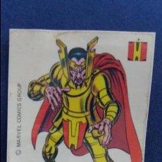 Coleccionismo Cromos antiguos: CROPAN CROMO PLASTICO ALBUM SUPER HEROES MARVEL NUMERO 43 LORG KRAGON SERIE CAPA PROTECTORA. Lote 100228623