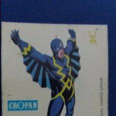 Coleccionismo Cromos antiguos: CROPAN CROMO PLASTICO ALBUM SUPER HEROES MARVEL NUMERO 31 RAYO NEGRO SERIE CAPA PROTECTORA. Lote 100228835