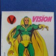 Coleccionismo Cromos antiguos: CROPAN CROMO PLASTICO SUPER HEROES MARVEL NUMERO 36 LA VISION SERIE CAPA PROTECTORA BASTANTE NUEVO. Lote 100229743