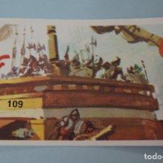 Coleccionismo Cromos antiguos: CROMO DE:BATALLAS HISTÓRICAS,(SIN PEGAR),Nº 109,AÑO 1974,DEL ÁLBUM,BATALLAS HISTÓRICAS,DE DIDEC. Lote 100568539