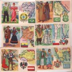 Coleccionismo Cromos antiguos: TIPOS Y NACIONES DE TODO EL MUNDO CEREGUMIL, LOTE DE 94 CROMOS, A FALTA DE 6 PARA COMPLETAR. Lote 100753567