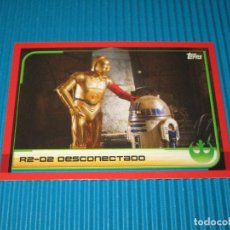 Coleccionismo Cromos antiguos: R2-D2 DESCONECTADO - 21 - RUMBO A STAR WARS ( LOS ULTIMOS JEDI ) - TOPPS. Lote 101390511