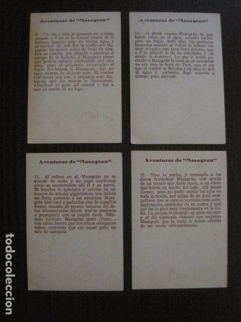 Coleccionismo Cromos antiguos: AVENTURAS DE MASAGRAN - COLECCION 30 CROMOS-COL. COMPLETA -VER FOTOS -(CR-1033) - Foto 8 - 101645215