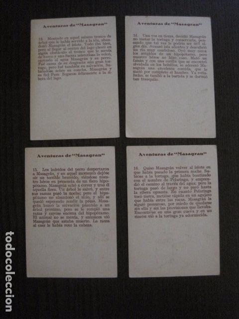Coleccionismo Cromos antiguos: AVENTURAS DE MASAGRAN - COLECCION 30 CROMOS-COL. COMPLETA -VER FOTOS -(CR-1033) - Foto 10 - 101645215