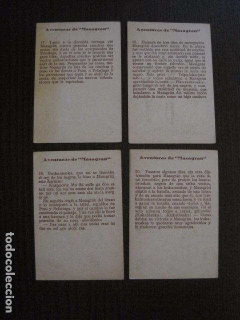 Coleccionismo Cromos antiguos: AVENTURAS DE MASAGRAN - COLECCION 30 CROMOS-COL. COMPLETA -VER FOTOS -(CR-1033) - Foto 12 - 101645215