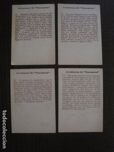 Coleccionismo Cromos antiguos: AVENTURAS DE MASAGRAN - COLECCION 30 CROMOS-COL. COMPLETA -VER FOTOS -(CR-1033) - Foto 14 - 101645215
