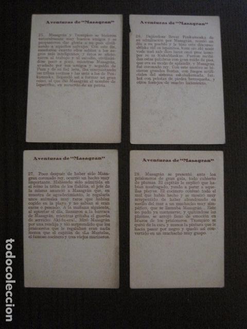 Coleccionismo Cromos antiguos: AVENTURAS DE MASAGRAN - COLECCION 30 CROMOS-COL. COMPLETA -VER FOTOS -(CR-1033) - Foto 16 - 101645215