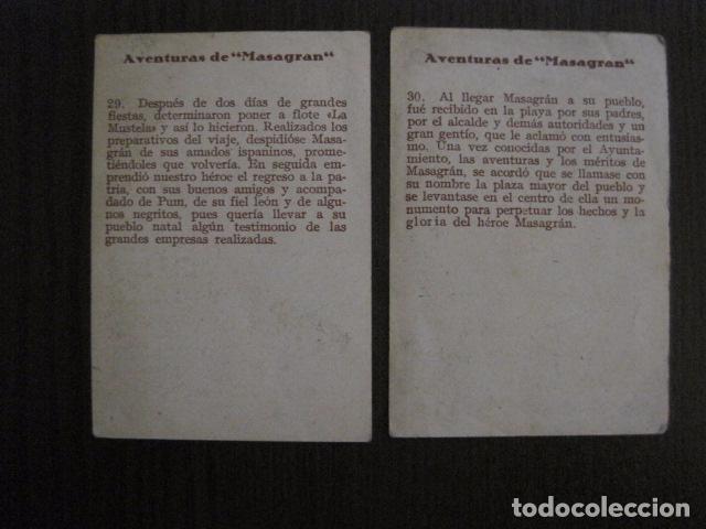 Coleccionismo Cromos antiguos: AVENTURAS DE MASAGRAN - COLECCION 30 CROMOS-COL. COMPLETA -VER FOTOS -(CR-1033) - Foto 18 - 101645215
