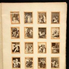 Coleccionismo Cromos antiguos: COLECCION DE 70 CROMOS DE LOS CAPRICHOS DE GOYA. FOTOTIPIAS. Lote 101835791