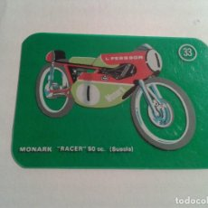 Coleccionismo Cromos antiguos: MOTOS MODERNAS CROPAN CROMO PLASTICO MOTO MONARK Nº 33. Lote 101981099