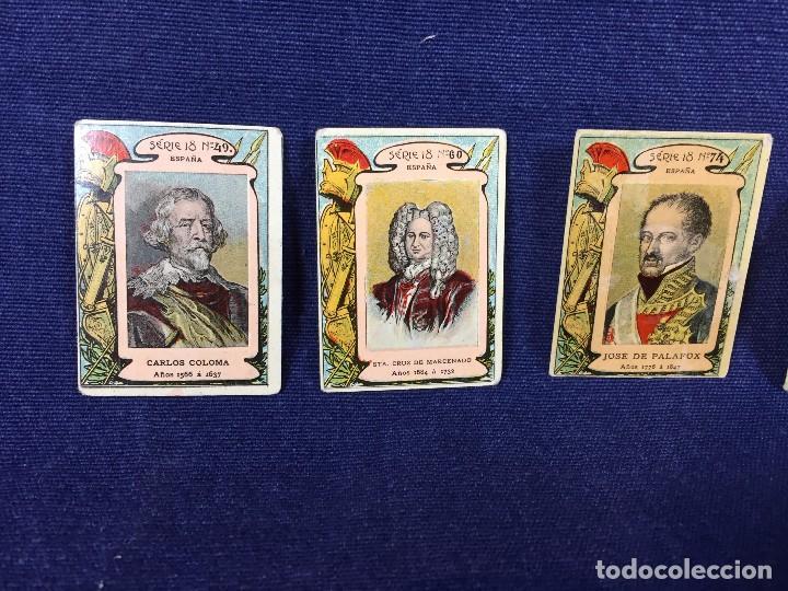Coleccionismo Cromos antiguos: filumenismo caja cerillas 10 cromos caratula personajes historicos serie 18 ppio s XX - Foto 2 - 102286323