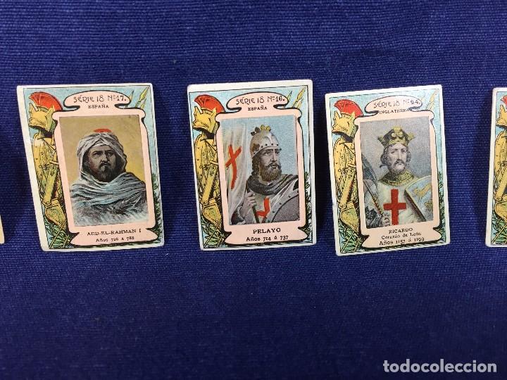 Coleccionismo Cromos antiguos: filumenismo caja cerillas 10 cromos caratula personajes historicos serie 18 ppio s XX - Foto 3 - 102286323
