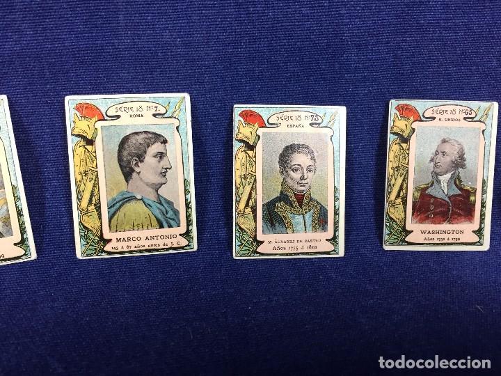 Coleccionismo Cromos antiguos: filumenismo caja cerillas 10 cromos caratula personajes historicos serie 18 ppio s XX - Foto 4 - 102286323