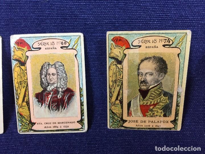 Coleccionismo Cromos antiguos: filumenismo caja cerillas 10 cromos caratula personajes historicos serie 18 ppio s XX - Foto 7 - 102286323