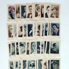 Coleccionismo Cromos antiguos: CROMOS CÉLEBRES ARTISTAS CINEMATOGRÁFICOS SERIES A B C D E Y F. 117 DE 126 CROMOS JUNCOSA. Lote 102296132