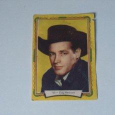 Coleccionismo Cromos antiguos: CROMOS ANTIGUOS ACTORES DE CINE HOLLYWOOD - AÑOS 50 - #100 GUY MADISON. Lote 103924219