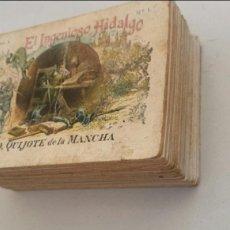 Coleccionismo Cromos antiguos: COLECCION COMPLETA 100 CROMOS CHOCOLATES. DON QUIJOTE DE LA MANCHA CHOCOLATE JUNCOSA. Lote 104039822