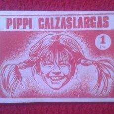 Coleccionismo Cromos antiguos: ANTIGUO SOBRE DE CROMOS SIN ABRIR PIPPI CALZASLARGAS EDITORIAL FHER 1974 DIFICIL. LÅNGSTRUMP. PIPI.. Lote 121913812