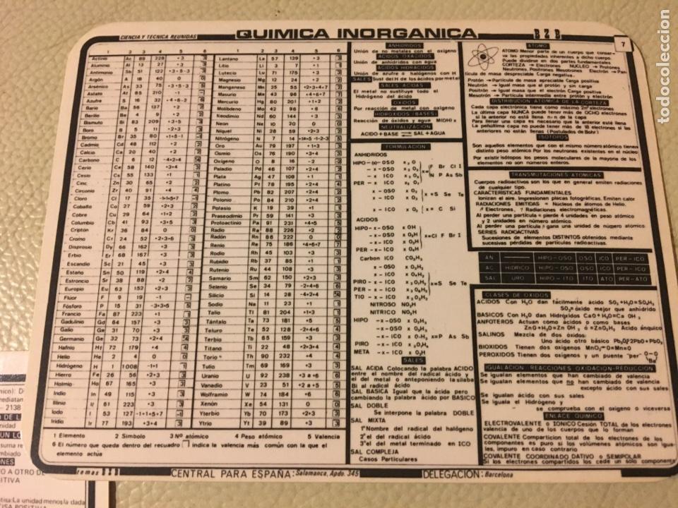 Coleccionismo Cromos antiguos: CHULETAS MATEMÁTICAS LOGARITMOS QUÍMICA ÁREAS Y VOLÚMENES - Foto 4 - 104631562