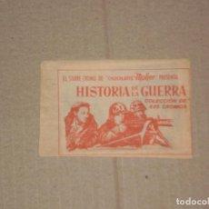 Coleccionismo Cromos antiguos: SOBRE DE CROMOS SIN ABRIR , HISTORIA DE LA GUERRA , CHOCOLATES MOHER . AÑOS 60. Lote 104733203