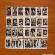 Coleccionismo Cromos antiguos: JULIO ROMERO DE TORRES - COLECCIÓN A FALTA DE 2 CROMOS - PUBLICIDAD CHOCOLATE JUNCOSA. Lote 104876475