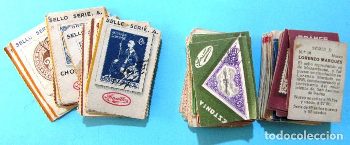 Coleccionismo Cromos antiguos: LOTE DE CROMOS. CROMOS SUELTOS; 0,70 €. REPRODUCCIONES DE LOS SELLOS POSTALES DEL MUNDO. AMATLLER - Foto 2 - 104891779
